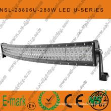 Barra de luz LED serie CREE Curved-U de 288W, barra de luz LED todoterreno de 50 pulgadas 96PCS * 3W Conducción todoterreno