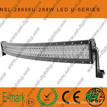 288W CREE Curved-U-Serie LED-Lichtleiste, 50 Zoll 96PCS * 3W LED-Off-Road-Lichtleiste Off-Road-Fahren