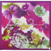 SC168-068 fashion 100 silk square scarf