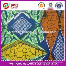 algodón puro hollandies africano real / imitación / tela de batik de cera super impreso en stock