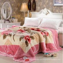 100 Polyester Super Soft Mink bedruckte Decke