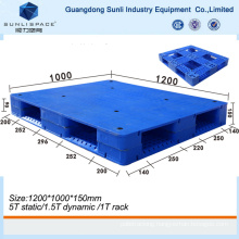 Export Size Recycle Cheap Single Faced HDPE Plastic Pallet