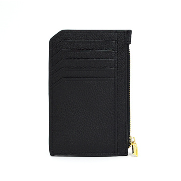 Porte-cartes Saffiano Leather Zipper Coin Men