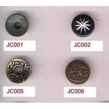 Exclusivo Design redondo Jeans rebites botões atacado