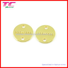 Sew Round Metal Label for T-Shirt
