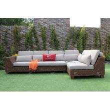 Hot Design Poly Rattan Modular Set para jardín al aire libre o muebles de sala de estar de mimbre