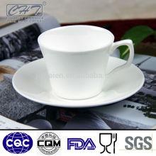 Alta calidad de hueso China por mayor taza de té y plato conjunto