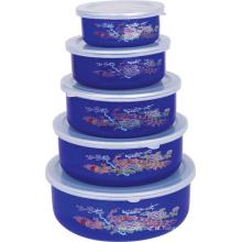 Esmalte Ice Bowl 5PCS Set com tampa de plástico 10-18cm 204ED