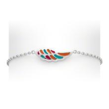 Bracelet et bracelets en argent sterling 925 en émail coloré pour enfants (KT3502)