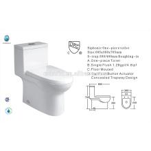 CB-9518 China exporter UPC Single flush bathroom new design American toilet