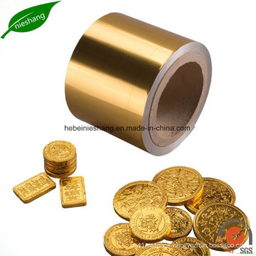 Gold Color Printing Aluminium Foil Paper Chocolate Packing Foil