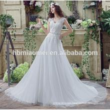 White elegant slim mermaid printed lace sri lanka wedding dress with fish tail