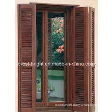 Folding Shutter Wooden Double Door, Louver Door