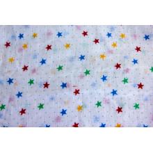 Pañal sofisticado de gasa de algodón con impresión de estrellas