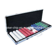 600PCS Poker Chip Set in Round Corner Aluminum Case (SY-S30)