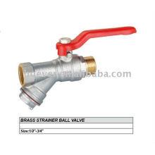 brass strainer ball valve