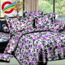 high quality 3d woven printed home textile bed sheet set
