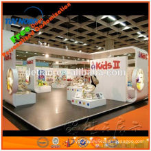 wooden exhibition booth with fair reception desk for trade show stand from shanghai
