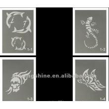 hot design glitter tattoo stencil for body and face art