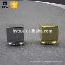 Bouchon de bouteille de parfum de luxe brillant en alliage de zinc de 15mm