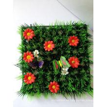 Künstlicher PET-materieller Dekorationsgrasteppich mit Marienkäfern und Blumen