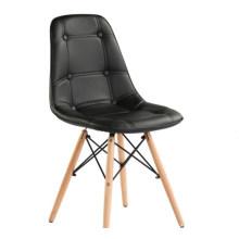 Пу сиденье с пеной подушки деревянные ножки обеденный стул