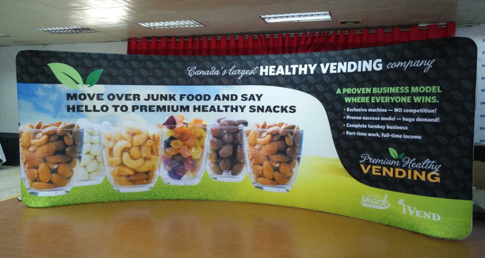 curved tension fabric display printing
