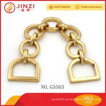 Mango de cadena de metal personalizado de alta calidad para bolso