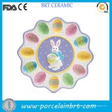Красиво Окрашенные Керамические Кролик Пасхальное Яйцо Лоток