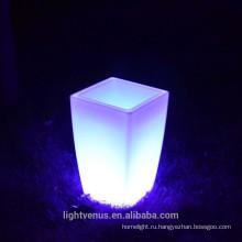 Европа стиль светодиодный пластиковый цветочный горшок открытый осветить настроение светодиодный свет завод ваза
