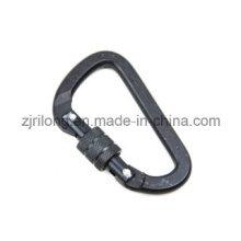 D Shape Aluminum Snap Hook Keychain with Screwlock Dr-Z0102