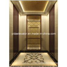 Gearless Passenger Lift with Marble, Wood and Beveled Glass Mirror