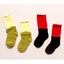 Chaussettes enfants en coton avec double passepoil (KA025)