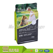 Custom Made Resealable Food Grade Eight Side Sealed Dog Snack Food Packing Pet Treats Packaging Bag