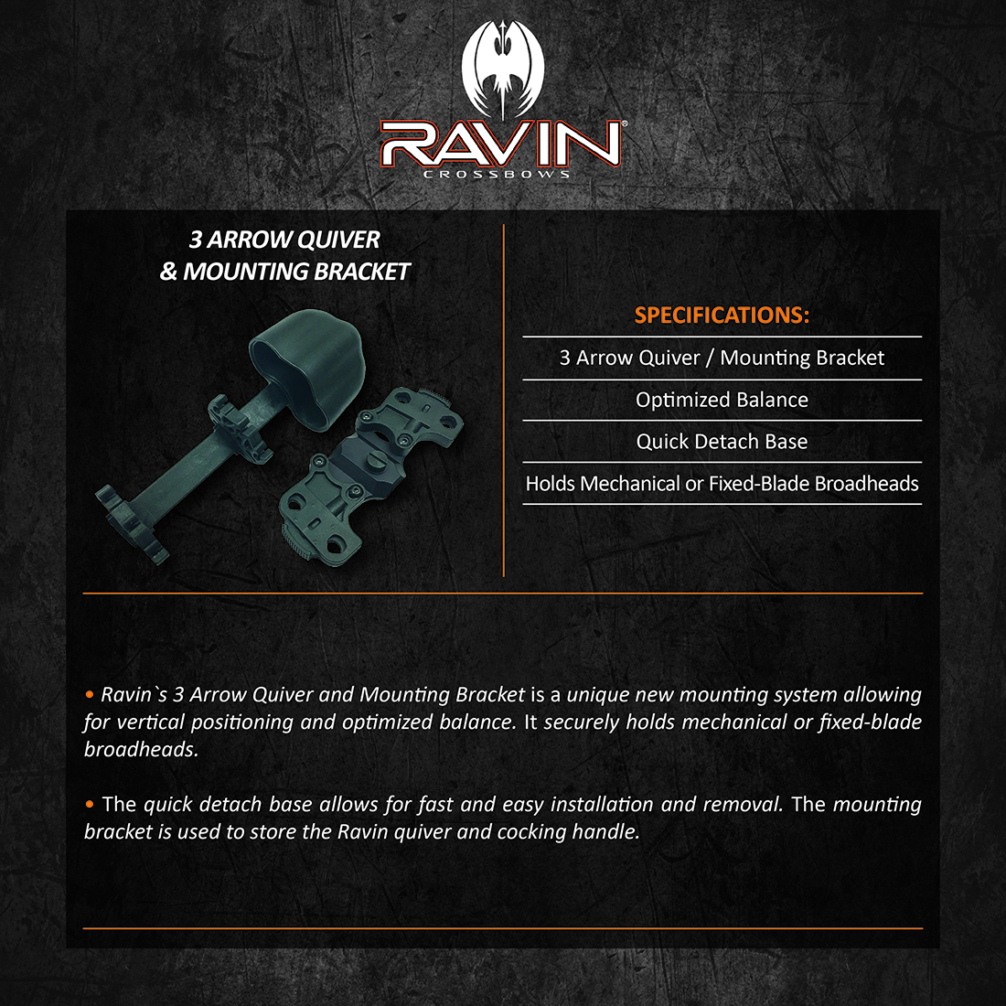 Ravin_Quiver_and_Mounting_Bracket_Product_Description