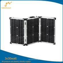 Panel solar plegable 3 * 30W para acampar