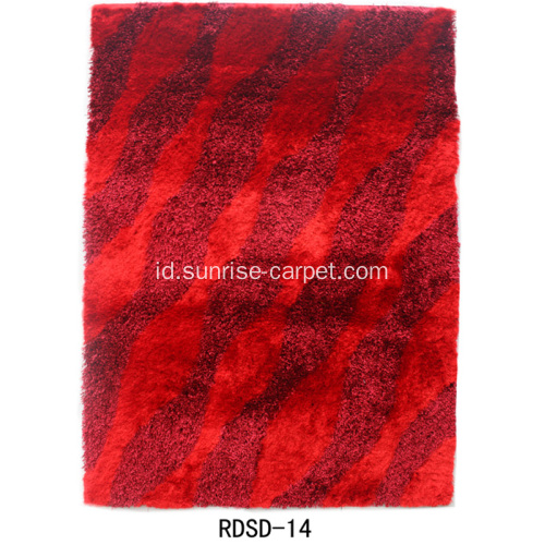 Polyester Silk Yarn Mixed Carpet dengan Design