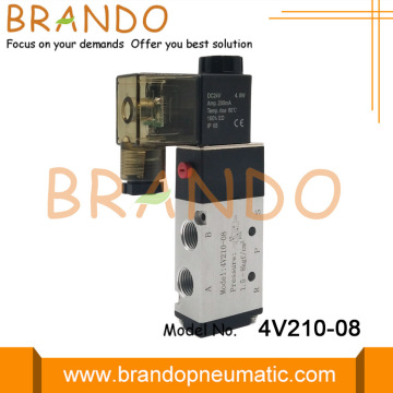 4V210-08 5/2 Way Valve Solenoid Air Pneumatic