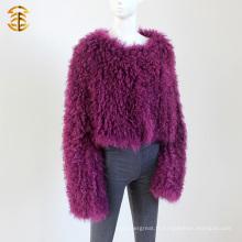 Star Fashion Design manteau de fourrure d'agneau mongol Manteau de fourrure de mouton mongol populaire