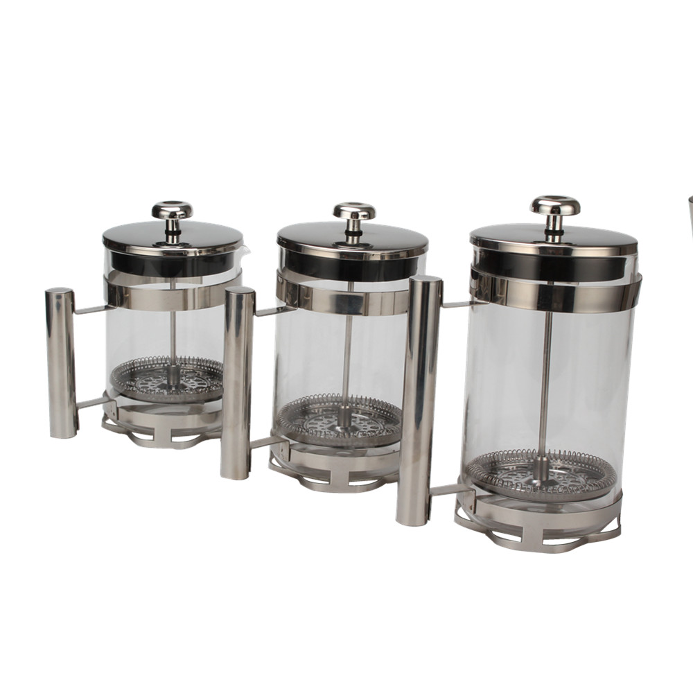 Stainless Steel Base Of Glass French Press