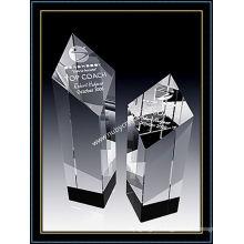 Optical Crystal Diamond Tower Award Trophy 5 Inch Tall (NU-CW764)