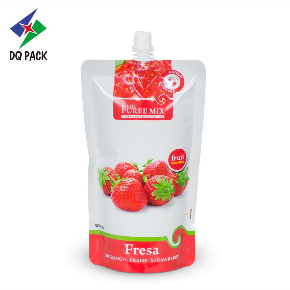 Juice sachet liquid packaging spout pouch