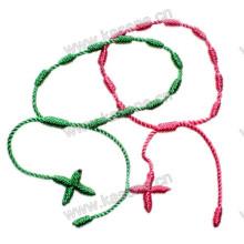 Завязанный браслет креста креста-нолики