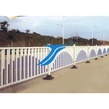 Der Straßen-Eisen-Zaun / städtischer Zaun, Straßen-Sperre, vorübergehender Zaun, städtischer Zaun