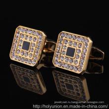 Новый кристалл запонки благородных французских запонки