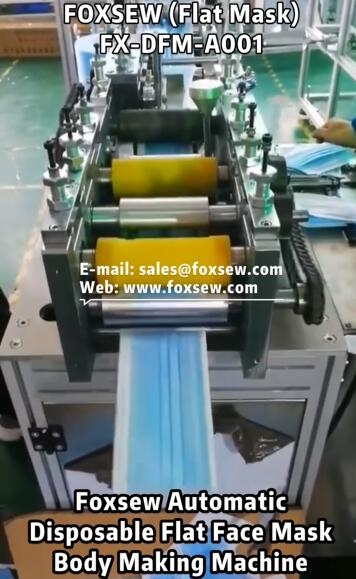 Automatic Flat Face Mask Making Machines