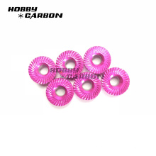 M3, M4,M5 Colored Aluminum Serrated Flange Nuts for Drone ,FPV