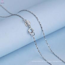 Cadeia de prata linda 925 padrões de colar para menina