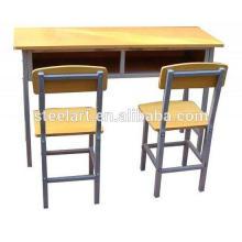 Metall Material und Kommerzielle Möbel Allgemeine Verwendung Metall Klassenzimmer Tisch und Stuhl