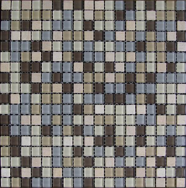 Competitive Price Glass Stone Mixed Mosaic Tile
